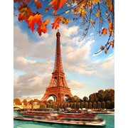 FKG Trading Wooden Adult Jigsaw Puzzle Eiffel Tower Paris in the Fall 500-Pieces