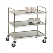 Bartscher Stainless Steel Serving Trolley with 3 tiers