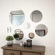 vidaXL Zestaw 7 okrągłych luster ściennych, szklanych