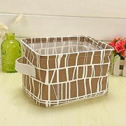 Aeoss Cute Print Cotton Linen Desktop Storage Organizer Sundries Storage Box Cabinet Underwear Storage Basket