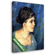Vincent Van Gogh: Nő kékben, portré (20x25 cm, Vászonkép )