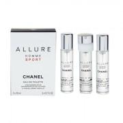 Chanel Allure Homme Sport eau de toilette ricarica 20 ml uomo