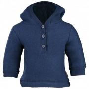 Mikk-Line - Kid's Wool Jacket w/Hat - Pull mérinos taille 122, bleu