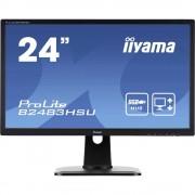 LED monitor 61 cm (24 cola) Iiyama B2483HSU-B1DP KEU: n.rel. 1920 x 1080 piknjica 16:9 2 ms DisplayPort, DVI, VGA, slušalice (3.