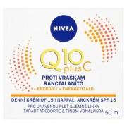Nivea Cremă de zi energizantă anti-riduri Q10 PLUS SPF 15 50 ml