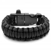 Tailor Toki Zwarte Paracord Armband met Vuurstaal