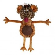LES FILOUS PLUSH MOUSE AND TPE BELLY WITH SQUEAKER 37cm