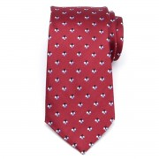 pentru bărbați mătase cravată (model 358) 7960 în vin roșu culoare
