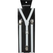Eccellente Y- Back Suspenders for Men(White)