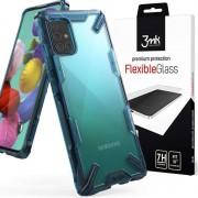 Etui Ringke Fusion X do Samsung Galaxy A71 Space Blue + Szkło 3mk