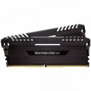 Corsair DDR4, 3000MHz 16GB 2 x 288 DIMM, Unbuffered, 15-17-17-35, Vengeance Black Heat spreader, Custom Performance PCB, RGB LED, 1.35V, XMP 2.0 CMR16GX4M2C3000C15