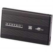 """Xystec Externes USB-3.0-Festplattengehäuse für 2,5""""-SATA-Festplatten"""