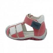 Sandale din piele naturala realizate manual pentru primii pasi EMEL E2187-3 Rosu 18