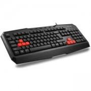 Геймърска клавиатура DELUX DLK-9020, USB, мултимедийни функции, БДС кирилизация, черен, DLK-9020/USB/BLACK/BULG