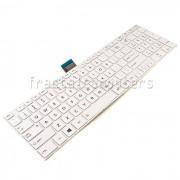 Tastatura Laptop Toshiba Satellite L50D-A alba cu rama