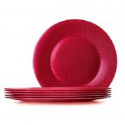 Platou sticla Bormioli Inca rosu 31 cm