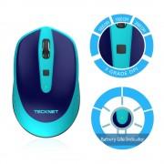 TeckNet M005 2.4G Wireless Mouse - малка безжична мишка (за Mac и PC) (синя)