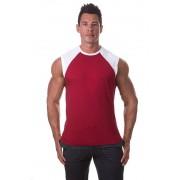 Bloke Undees Contrast Shoulder Muscle Top T Shirt Maroon SRC-M