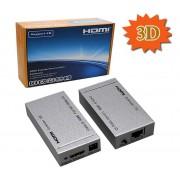 3D HDMI Extender over CAT5e / CAT6 (Balun) - 50 meter 1080p / 80m 720p