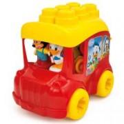 Set cuburi constructii moi parfumate Clemmy pentru copii Autobuzul lui Mickey Mouse