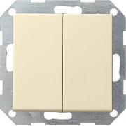 Gira drukvlak wissel-wisselchakelaar creme glanzend 012801