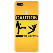 Husa silicon pentru Huawei P9 Lite mini This Is Sparta Funny Illustration