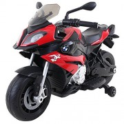 Costzon Kids Ride On Motorcycle, Licensed BMW 12V Battery Powered Motorcycle w/Training Wheels (Red)