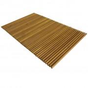 vidaXL Tapete de casa de banho em madeira de acácia 80x50 cm