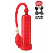 """Pipedream Genoppte Penispumpe """"Silicone Power Pump"""" (rot)"""