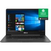 Ultrabook Asus ZenBook UX430UA Intel Core Kaby Lake R (8th Gen) i5-8250U 256GB 8GB Win10 Pro FullHD FPR Gri Bonus Bundle Software + Games