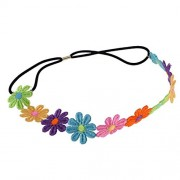 ELECTROPRIME® Beautiful Daisy Hairband Headband Wedding Elastic Flower Floral Hair Garland