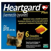 Heartgard Plus Chewables 6 Doses for Small Dogs <25lbs (Blue)