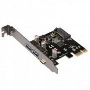 Card PCI-Express adaptor la 2x USB3.0 tip A + 1x USB 3.1 tip C HOPE R
