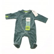 Noukies Pyjama velours Julien vert Noukie's-3 mois
