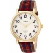 Ceas Unisex Timex Originals TW2P69600 Cadran Alb Bratara Piele Material Textil