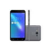 Smartphone Asus Zenfone 3 Max Snapdragon Dual Chip Android 6 Tela 5,5 32GB 4G Wi-Fi Câmera 16MP - Cinza