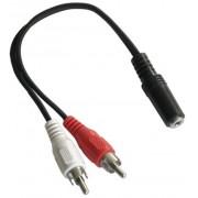 Kabel Mini Jack GN - 2*Cinch WT 0,2m