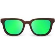 Tocca di Legno Rectangular Sunglasses(Green)