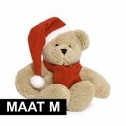Merkloos Knuffel kleding rode sjaal maat M voor Clothies knuffels