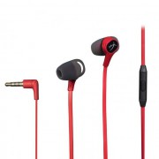 HEADPHONES, Kingston HyperX Cloud Earbuds, Microphone, Gaming, Red (HX-HSCEB-RD)