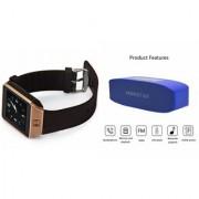 Zemini DZ09 Smartwatch and Hopestar H 11 Bluetooth Speaker for LG OPTIMUS L7 II DUAL(DZ09 Smart Watch With 4G Sim Card Memory Card| Hopestar H 11 Bluetooth Speaker)