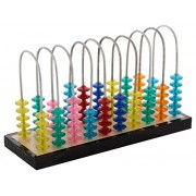 Rainbow Abacus with 100 Colorful Crystal Beads. Meaningful gift to teach math skills, pattern and color recognition