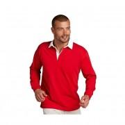 Kariban Heren rugbyshirt met mouw strepen