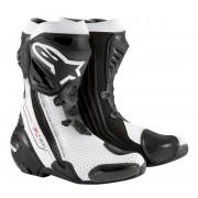 Alpinestars Stivali Moto Racing Supertech R Black White Vented Cod. 22200152