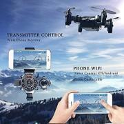 Lironheel Reloj Drone Plegable Mini cámara aérea WiFi Control Remoto Aviones Juguetes para niños Adultos Regalos creativos