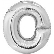 Stylewell 16 Inch Alphabet (O) Soild (Silver) Color 3D Foil Balloons For Birthday And Anniversary Parties Decoration