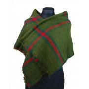 NEW BERRY dámská pletená šála / pléd BC717 zelená