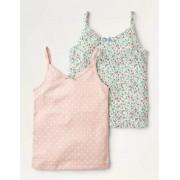 Mini Bunt, Vintage-Blumenmuster Unterhemden im 2er-Pack Mädchen Boden, 152, Multi