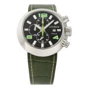 【68%OFF】ラウンドウォッチ クロノグラフ デイト表示 取替ベルト付 ケース:ブラック ベルト:ブラック、グリーン ファッション > 腕時計~~メンズ 腕時計