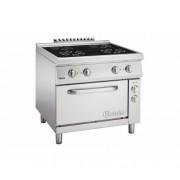 Keramisch Fornuis met 4 Kookzones + Elektrische oven 2/1 GN | 400V | 900x900x(H)850-900mm